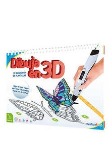 Dibuja en 3D- Mi Cuaderno de Plantillas