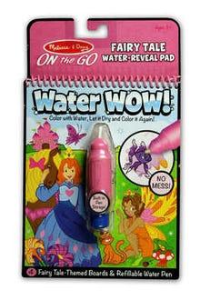 Bloc revelador para colorear con agua cuento de hadas