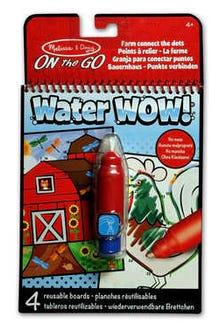 Bloc Revelador para Colorear con agua: Granja para conectar puntos