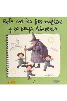 PINTA CON LAS TRES MELLIZAS Y LA BRUJA ABURRIDA