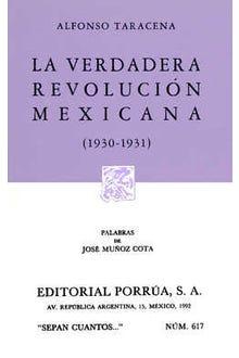 La verdadera revolución mexicana 1930-1931