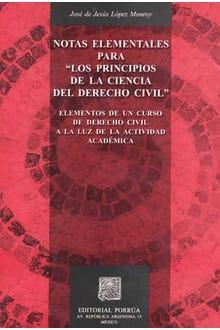 Notas elementales para los principios de la ciencia del Derecho Civil