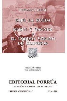 Bajo la rueda · Klein y Wagner · El último verano de Klingsor