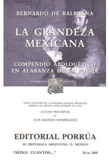 La grandeza mexicana y compendio apologético en alabanza de la poesía