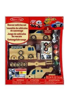Decora a tu gusto juego de vehículos de rescate