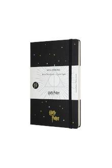Libreta Harry Potter negra hoja rayada pasta dura