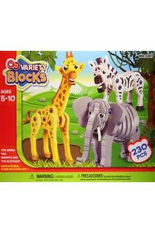 Blocks de fomy grueso para hacer animales del zoo
