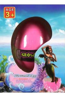 Huevo que crece en el agua y sale una sirena