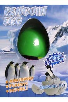 Huevo que crece en el agua y sale un pingüino