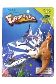 Dinosaurio que crece en el agua