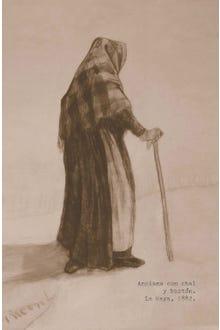 Libreta Anciana con bastón Van Gogh